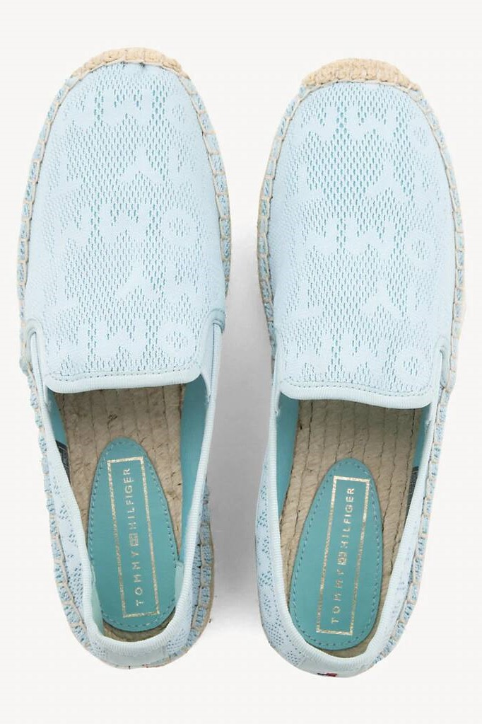 Tommy Hilfiger сини еспадрили Tommy Mesh Sporty Espadrille Omphalodes