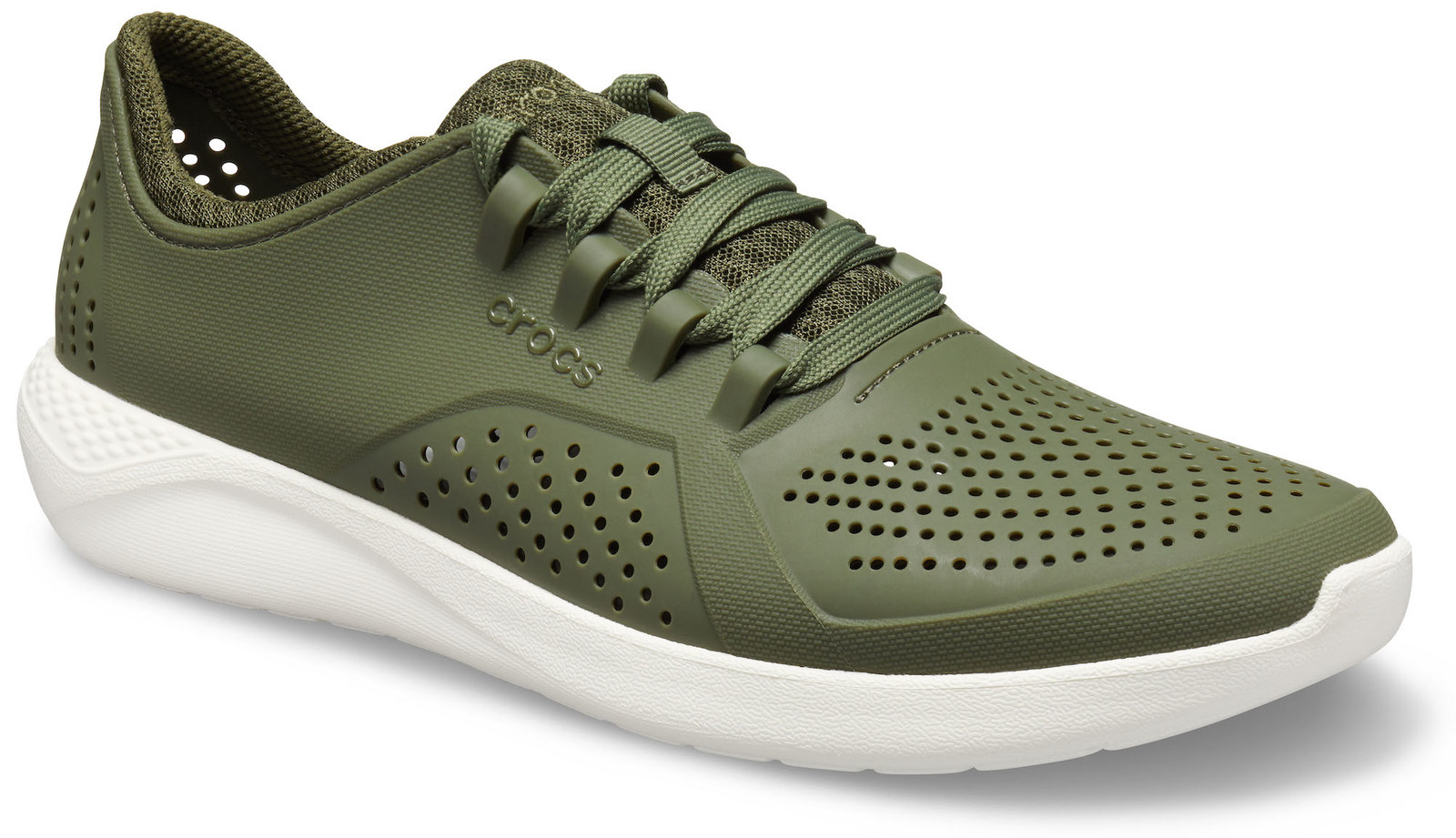 Crocs каки мъжки кецове LiteRide Pacer Army Green/White