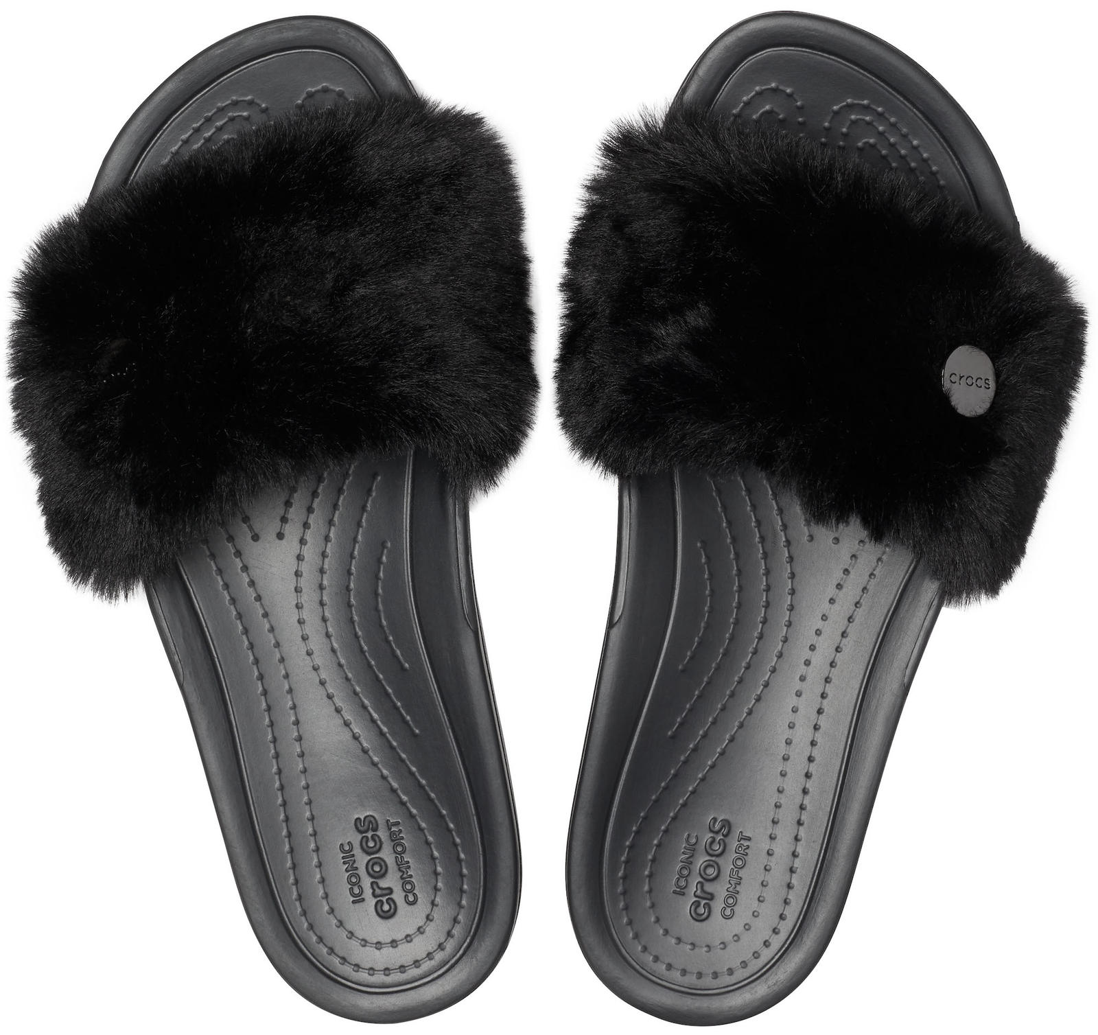 Crocs черни чехли Crocs Sloane Luxe Slide Black
