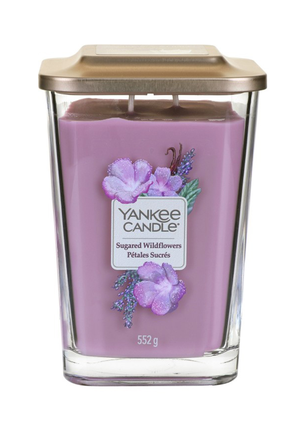 Yankee Candle ароматна свещ Elevation Sugared Wildflowers квадратни големи 2 фитила