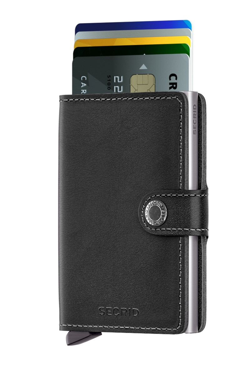 Secrid черни кожен портфейл Mini Wallet Original Black