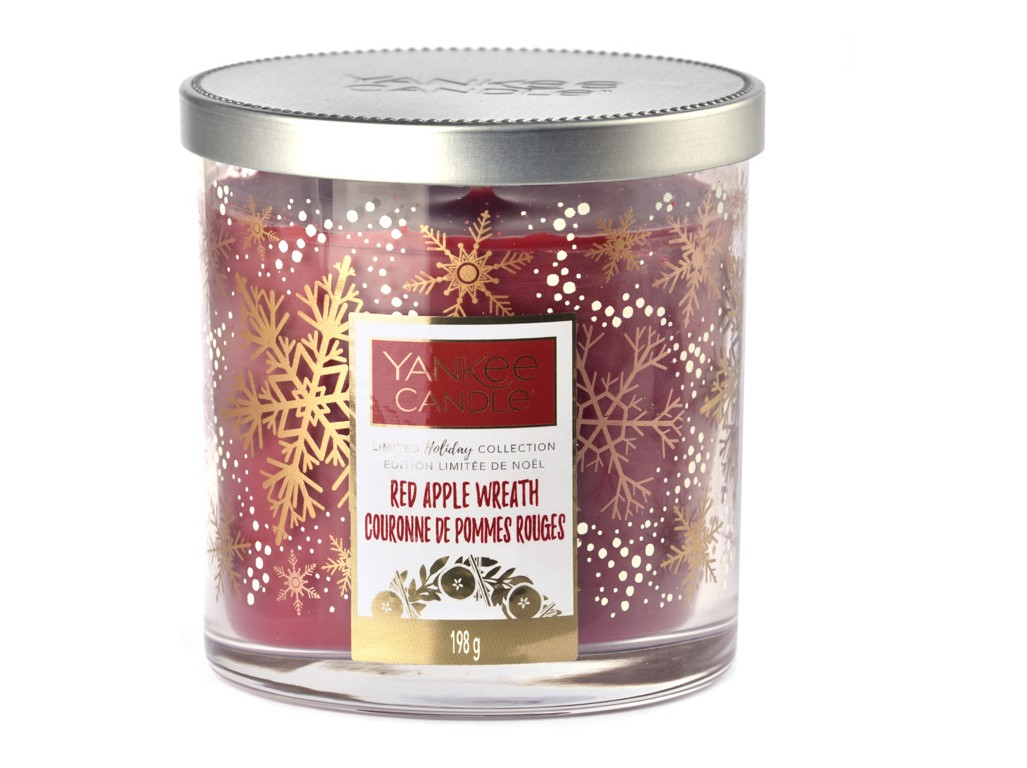 Yankee Candle ароматна свещ Red Apple Wreath Limited Décor malý