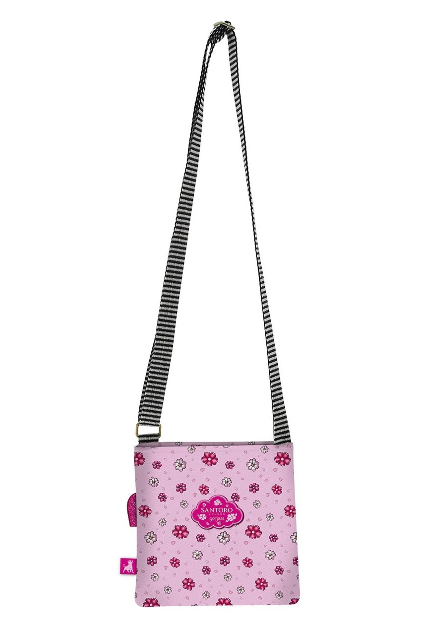 Santoro розови crossbody дамска чанта Gorjuss Sparkle&Bloom You Can Have Mine