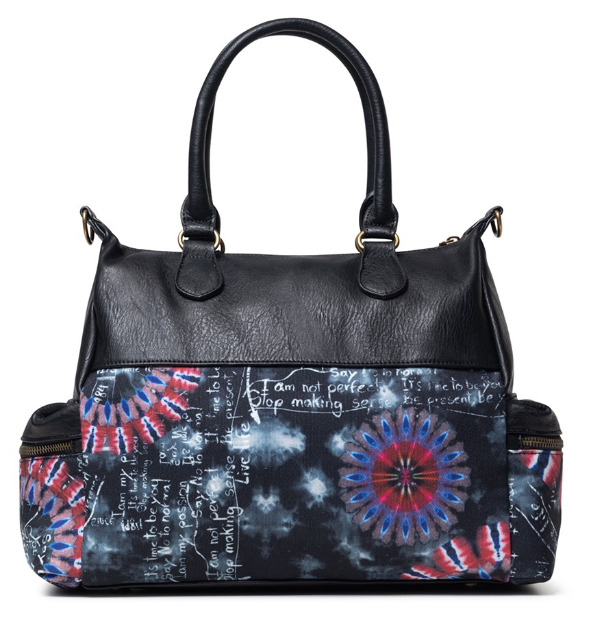 Desigual черни дамска чанта Bols Black Paper London Packets