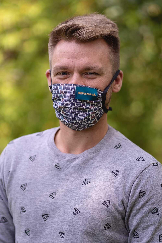 Simpo unisex памучна маска с джоб
