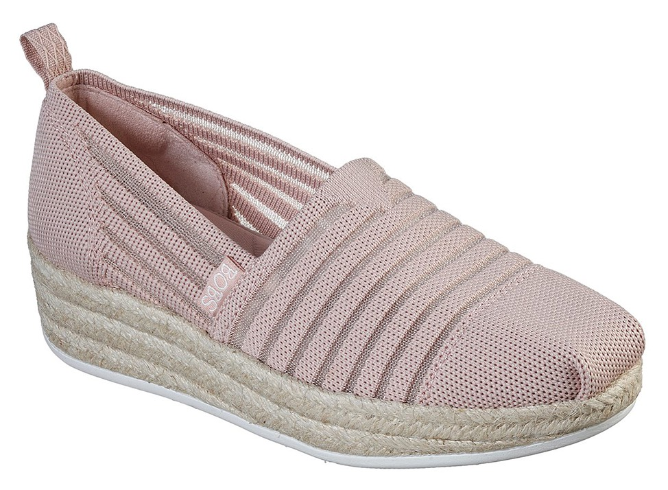Skechers пудрови еспадрили Highlights 2.0 Homestretch Blush