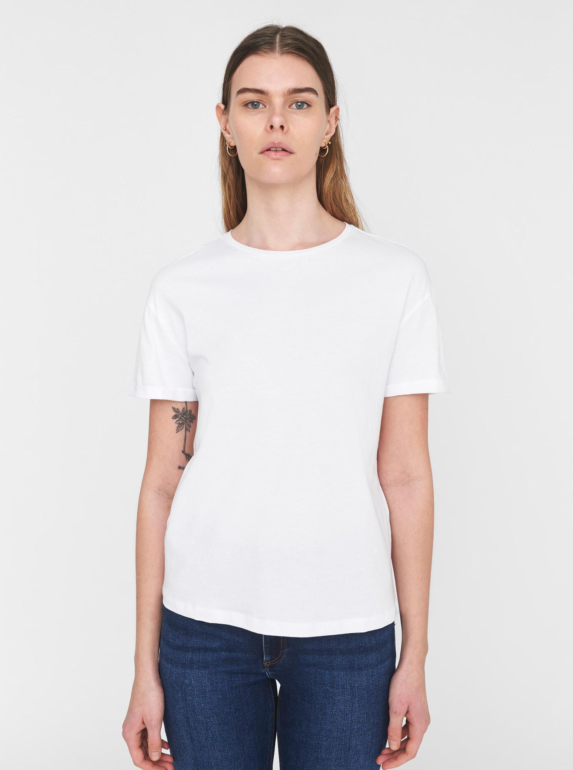 Бяла основна тениска Noisy May Brandy