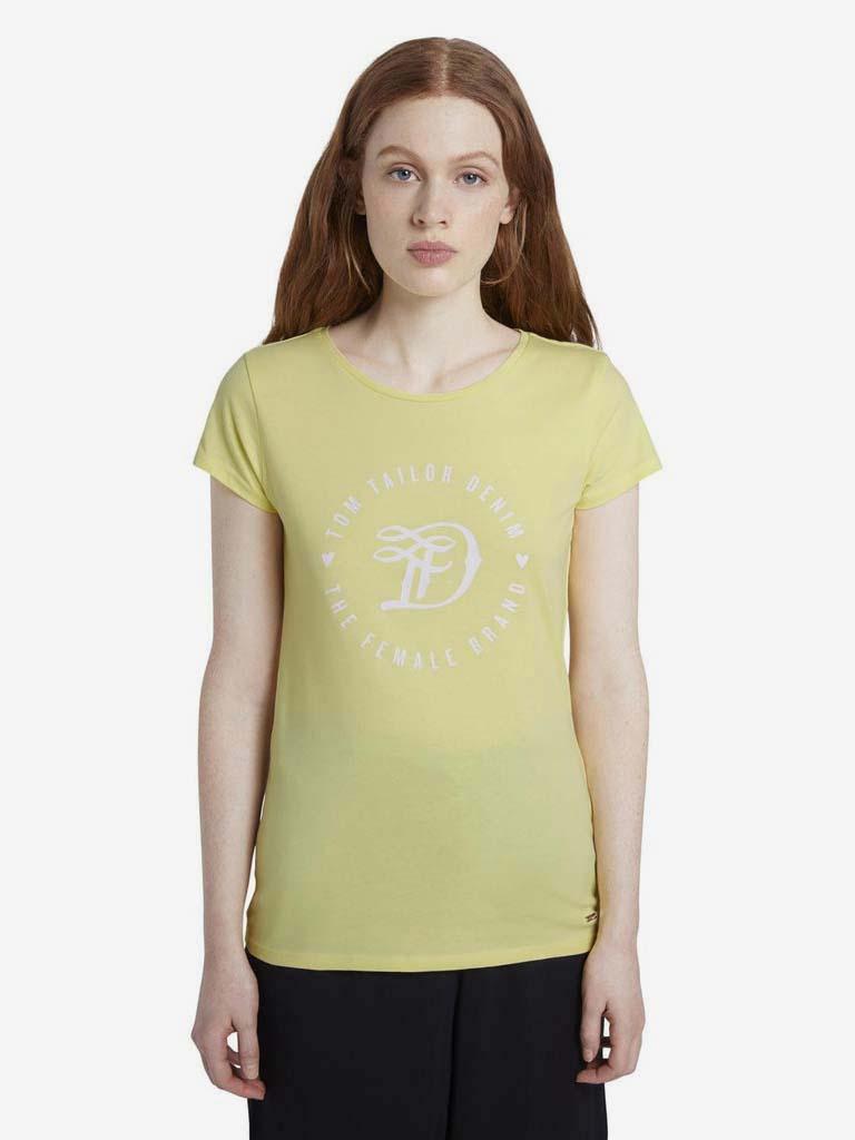 Жълта тениска за жени Tom Tailor Denim
