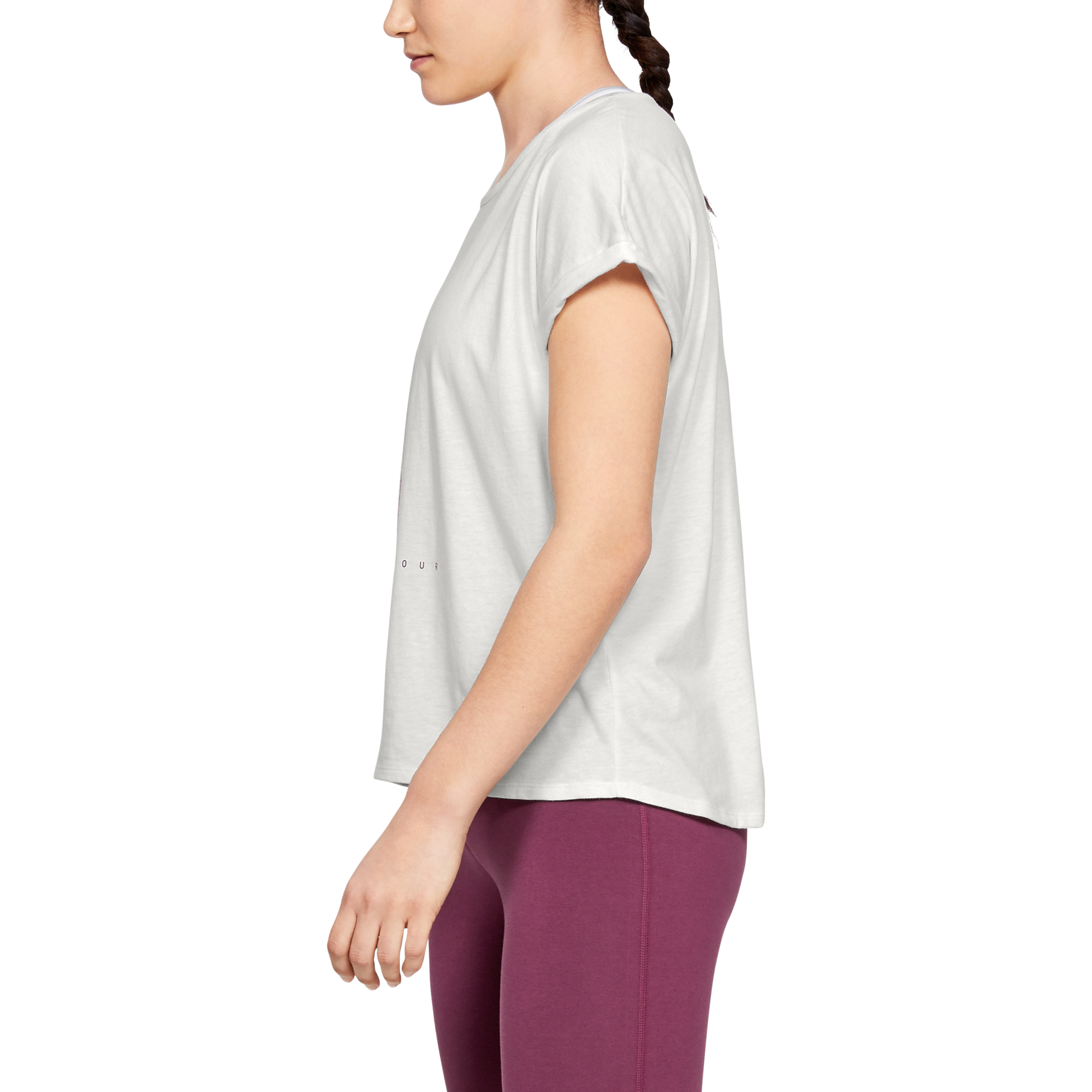 Тениска Under Armour GRAPHIC ENTWINED FASHION SSC-WHT