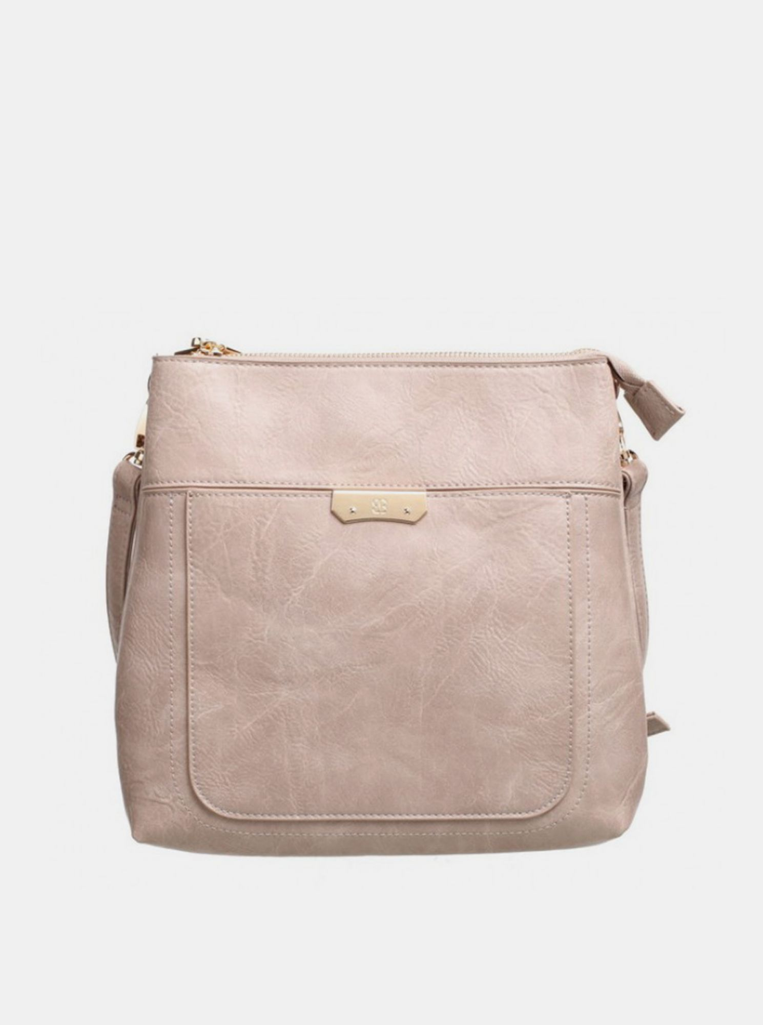 Бежова чанта Crossbody Bessie London