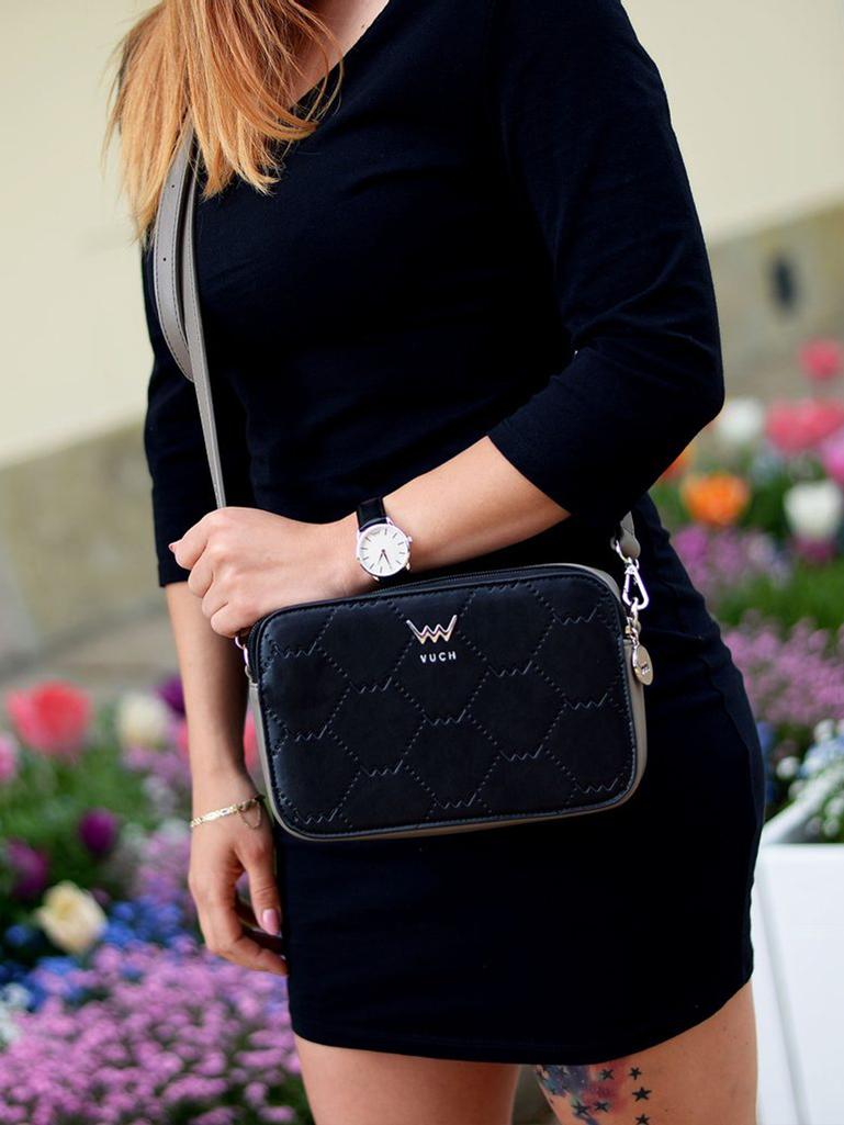 Vuch черна crossbody дамска чанта Rosette