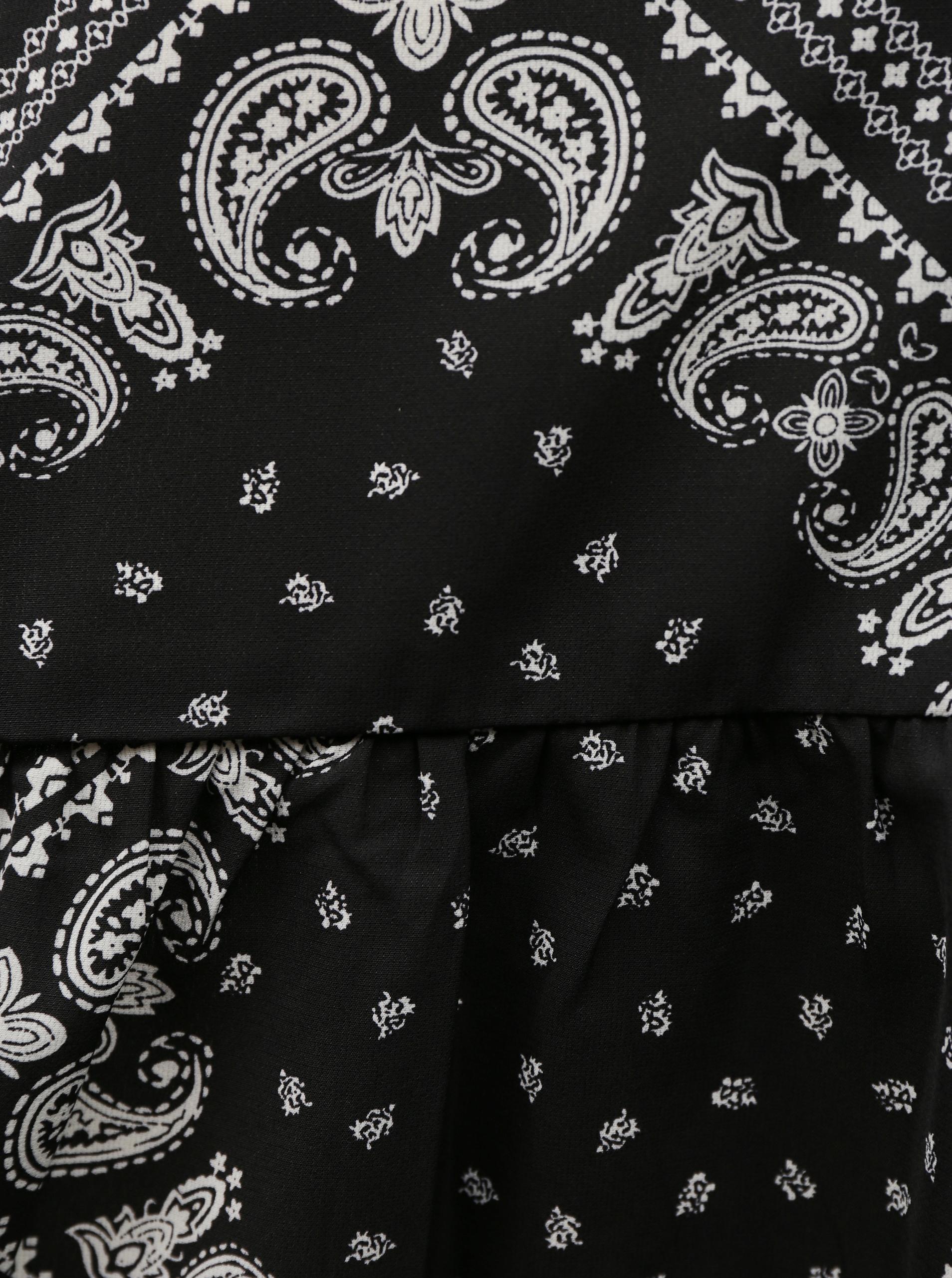 Черна шарена блуза Noisy May Paise