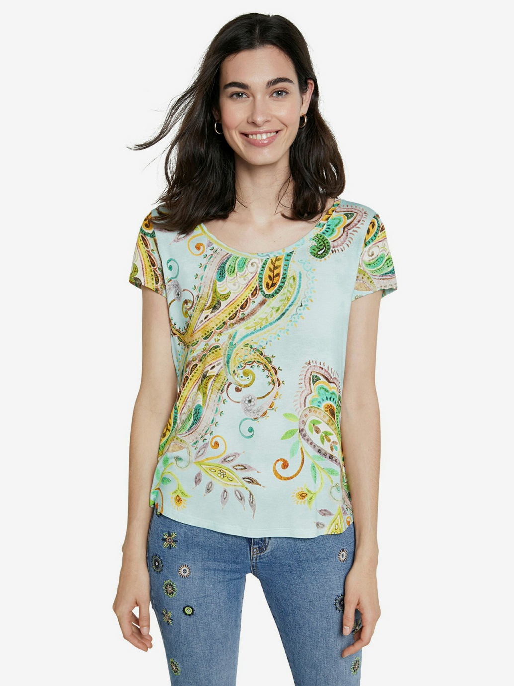 Desigual цветен риза TS Mandragora