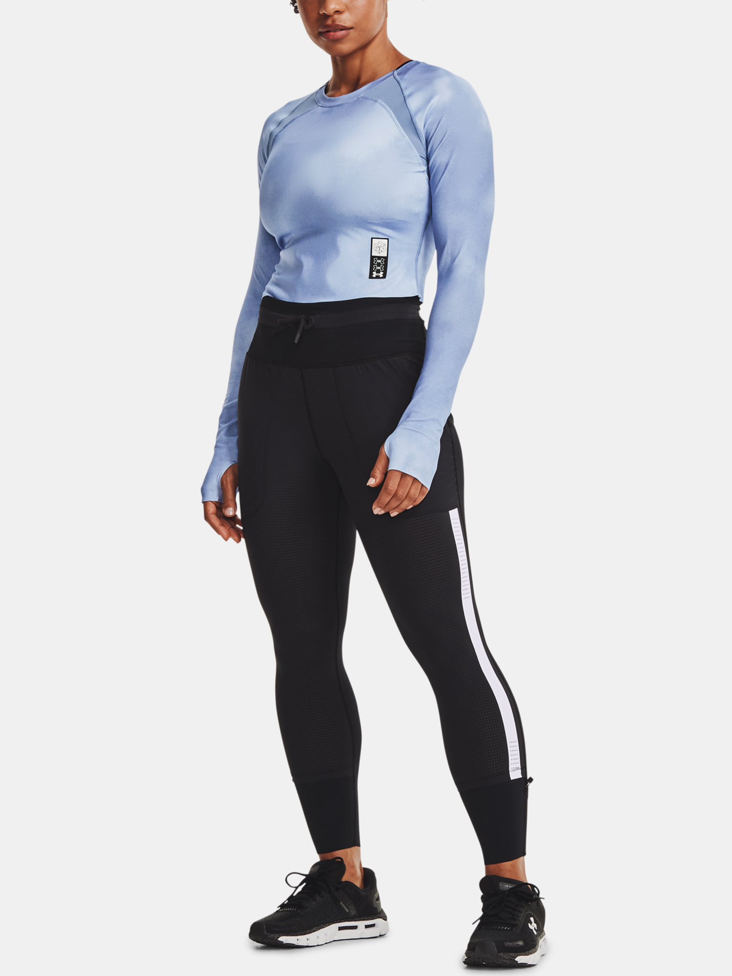 Under Armour женски риза Run Anywhere Cropped LS-BLU