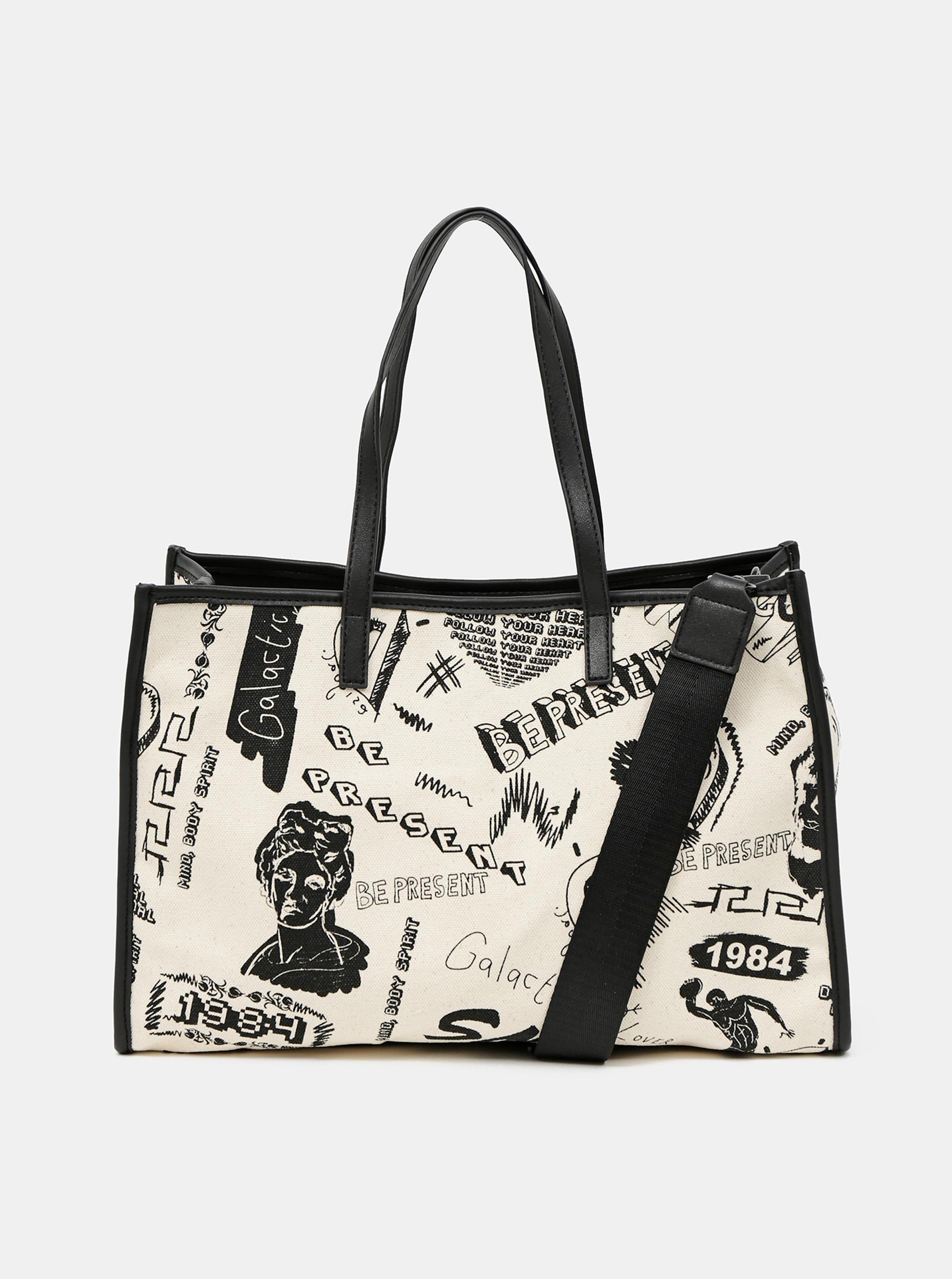 Desigual сметанова / кремова дамска чанта