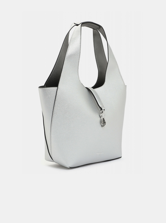 Tamaris сребърна двустранни shopper